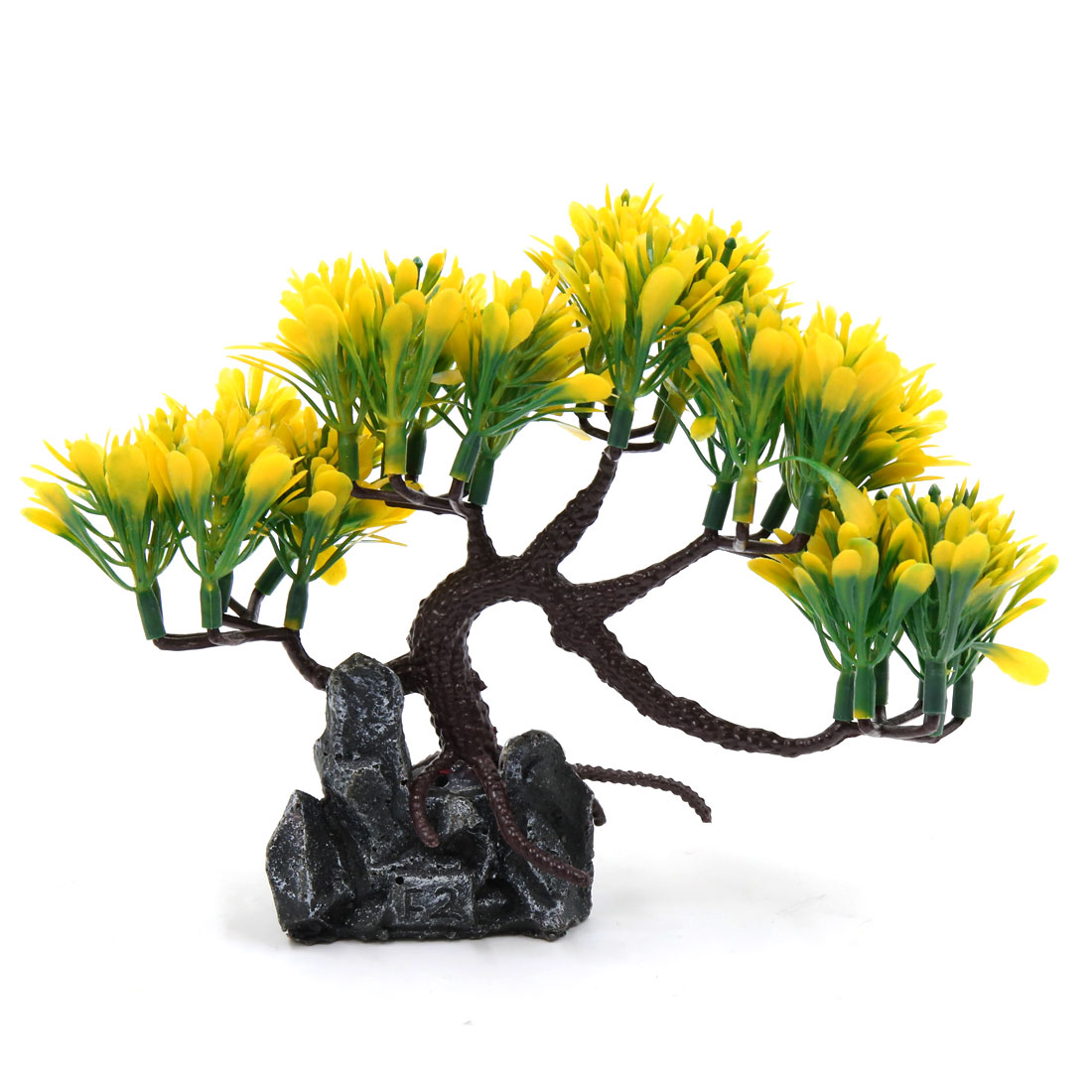 rium Decorative Plastic Plant Landscape Ornament Home Decoration Yellow