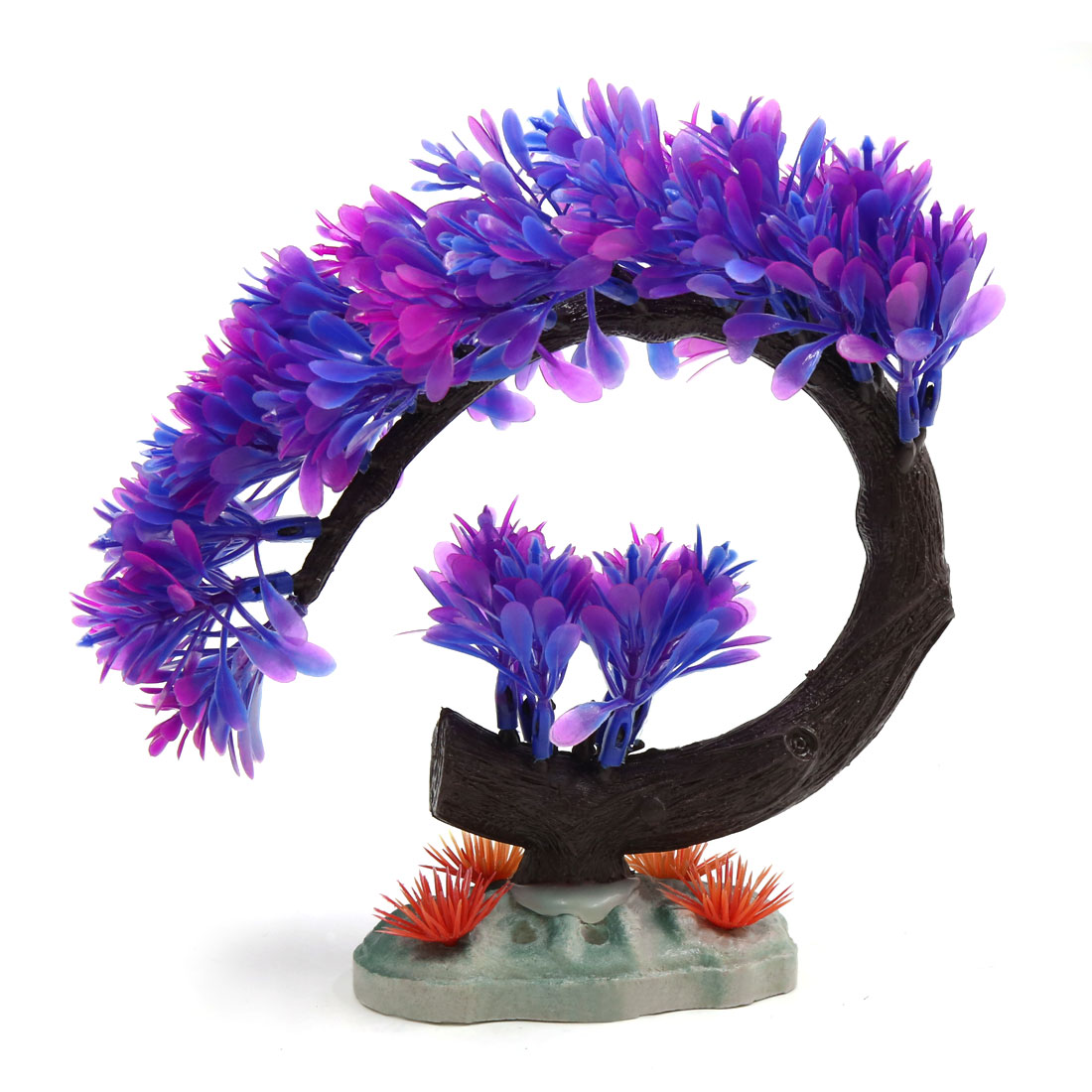 Purple Plastic Tree Decoration Aquarium Fish Tank Landscaping Ornament Decor
