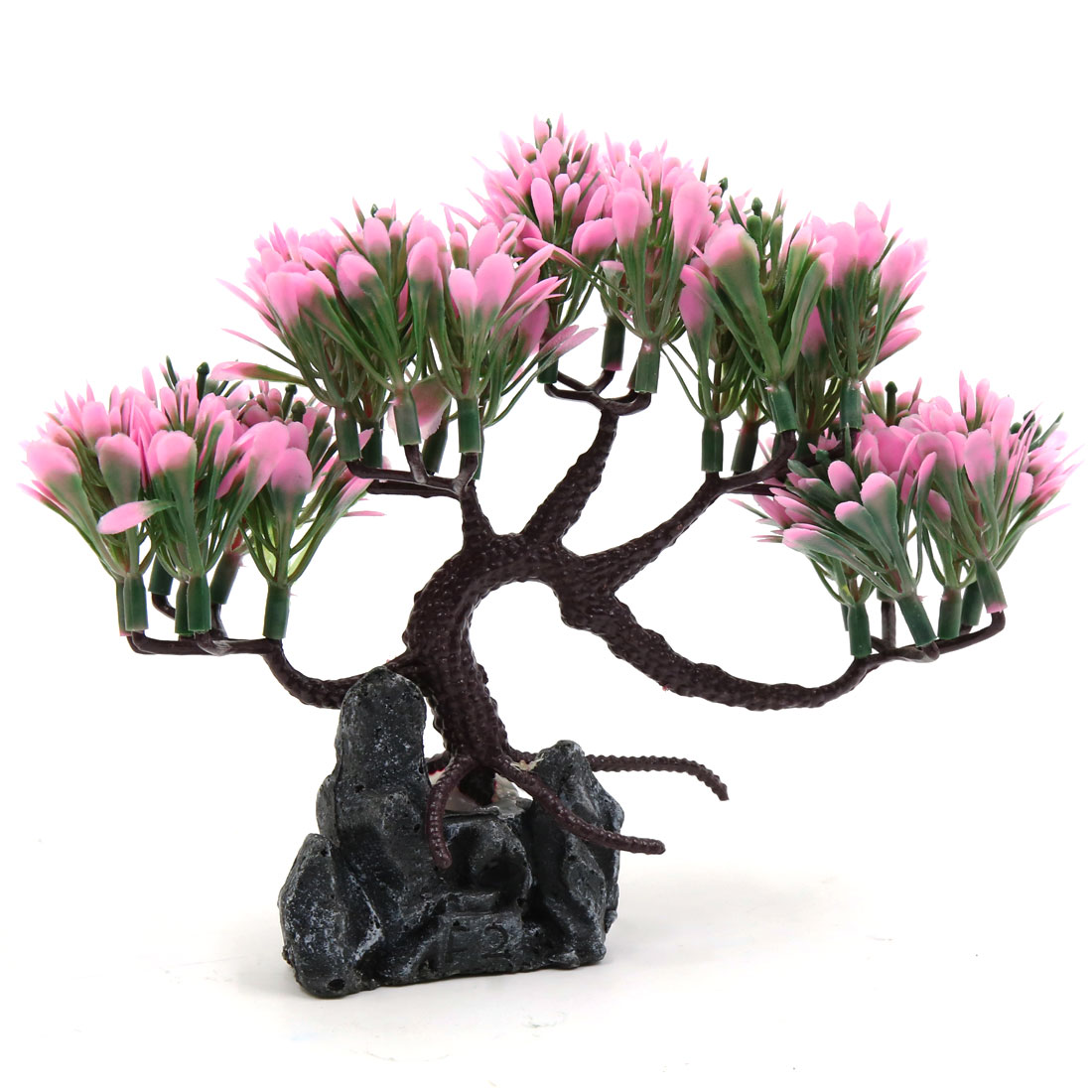 Aquarium Decorative Plastic Plant Aqua Landscape Ornament Home Decoration Pink