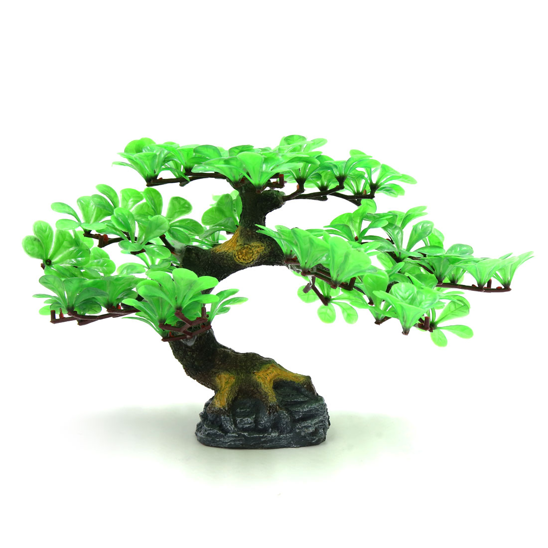 Green Plastic Decorative Tree Aquarium Betta Tank Waterscape Decoration Plant