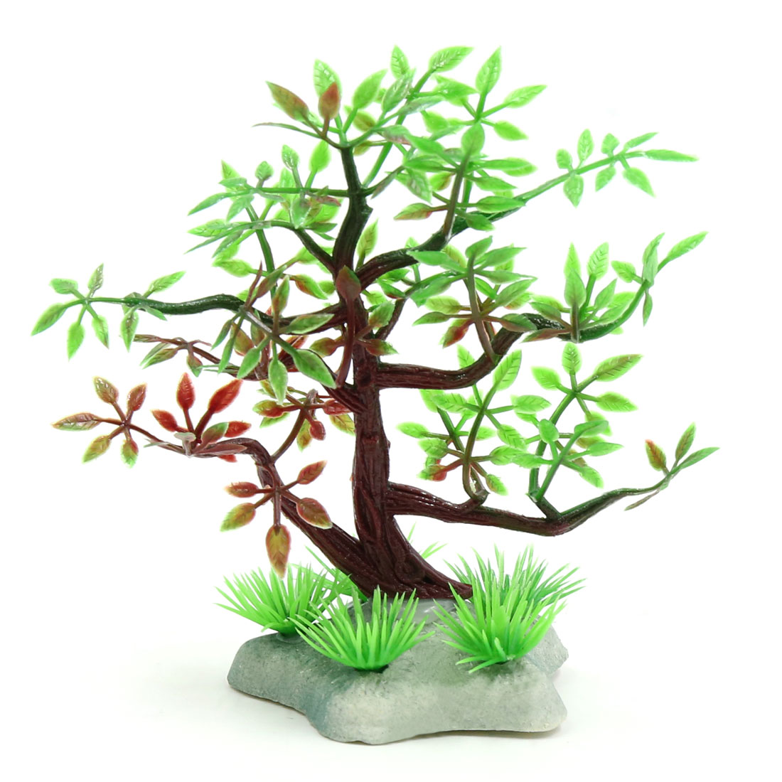 Plastic Mini Lifelike Tree Aquarium Betta Tank Fishbowl Landscapes Decors