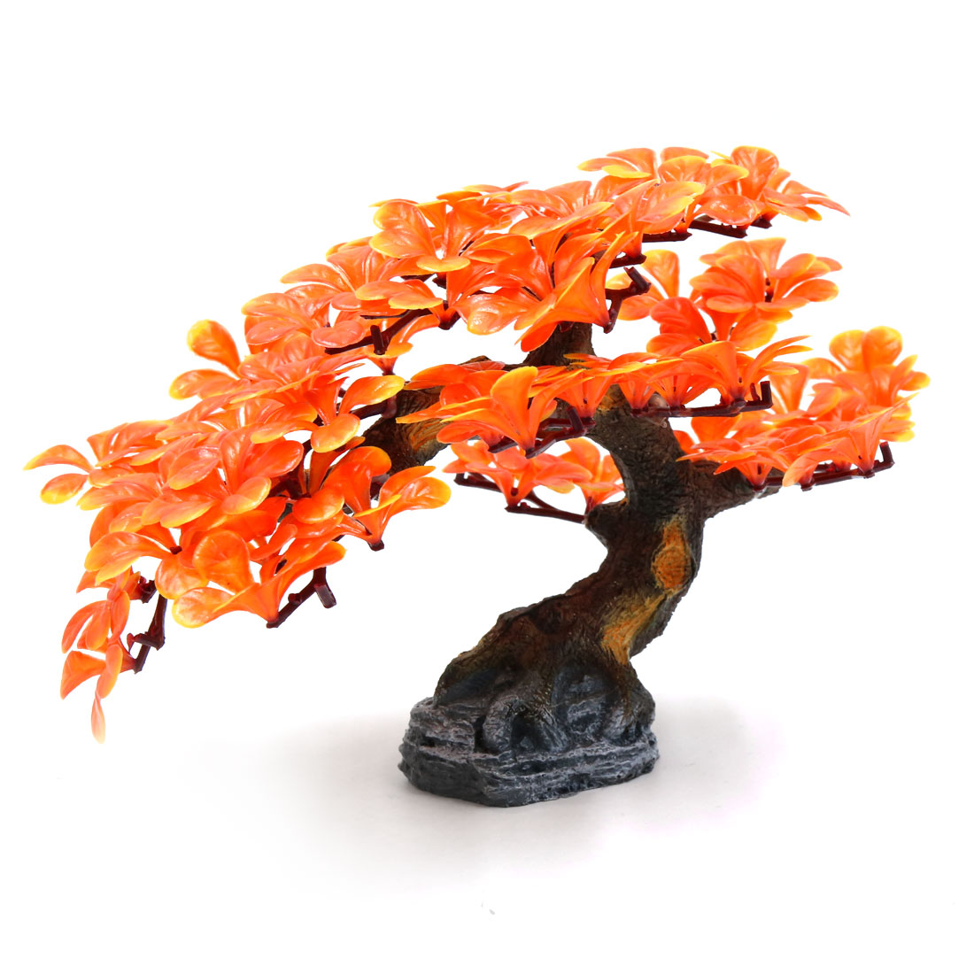 Orange Plastic Decorative Tree Aquarium Betta Tank Waterscape Decoration Plant