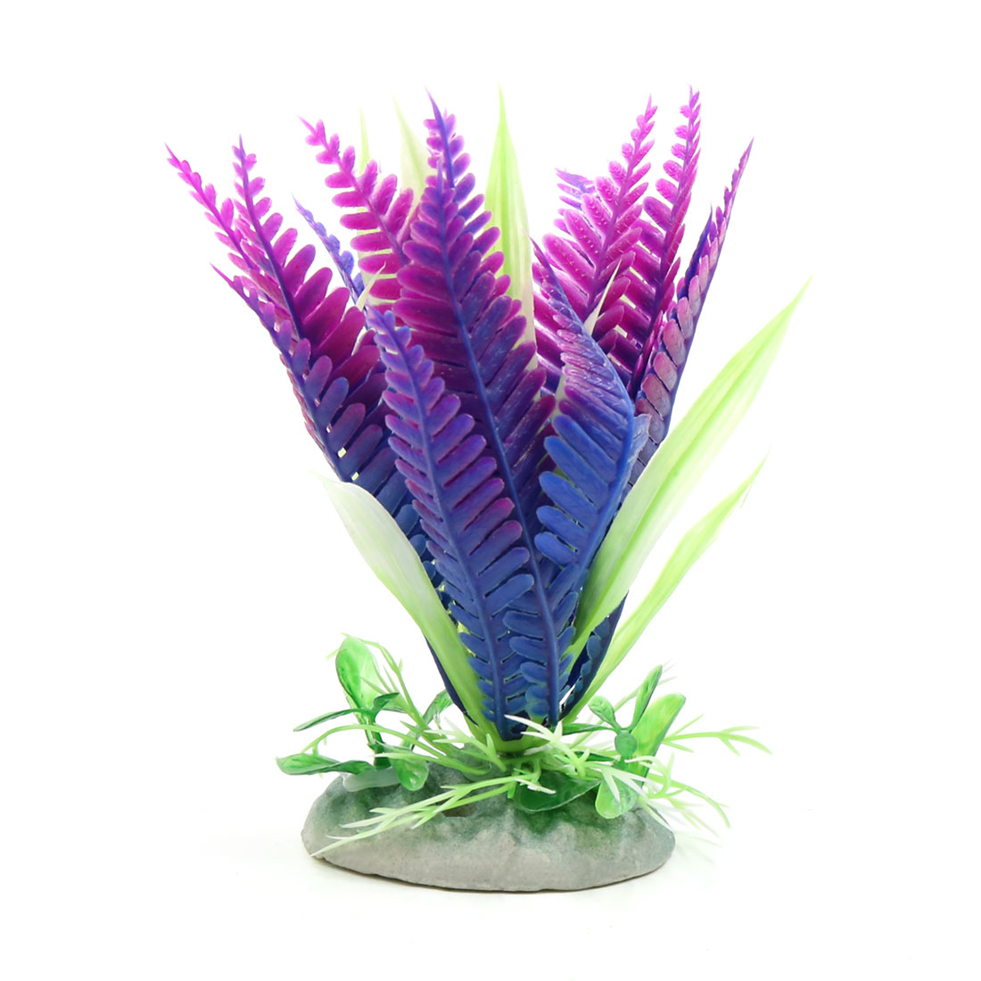 Purple Plastic Mini Plant Aquarium Fishbowl Decoration Home Decor w/ Stand