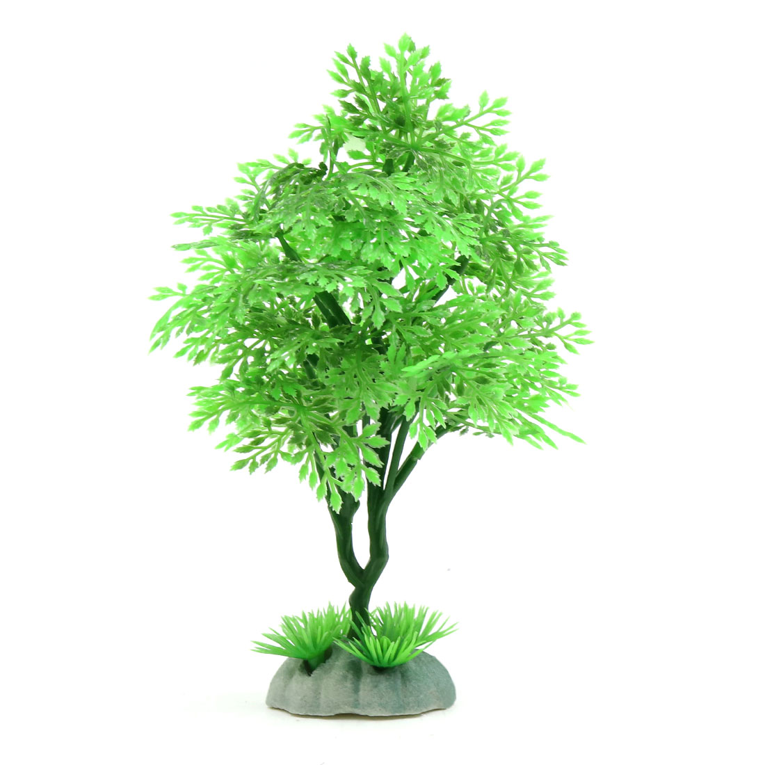 Light Green Plastic Tree Aquarium Fishbowl Landscape Ornament 6.1inch Height