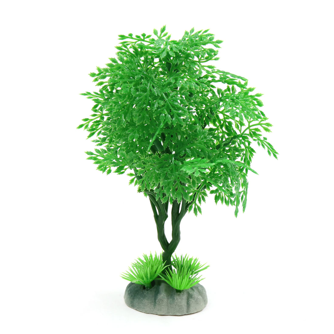 Green Plastic Tree Aquarium Fish Tank Waterscape Ornament Home Decor 6.1inch