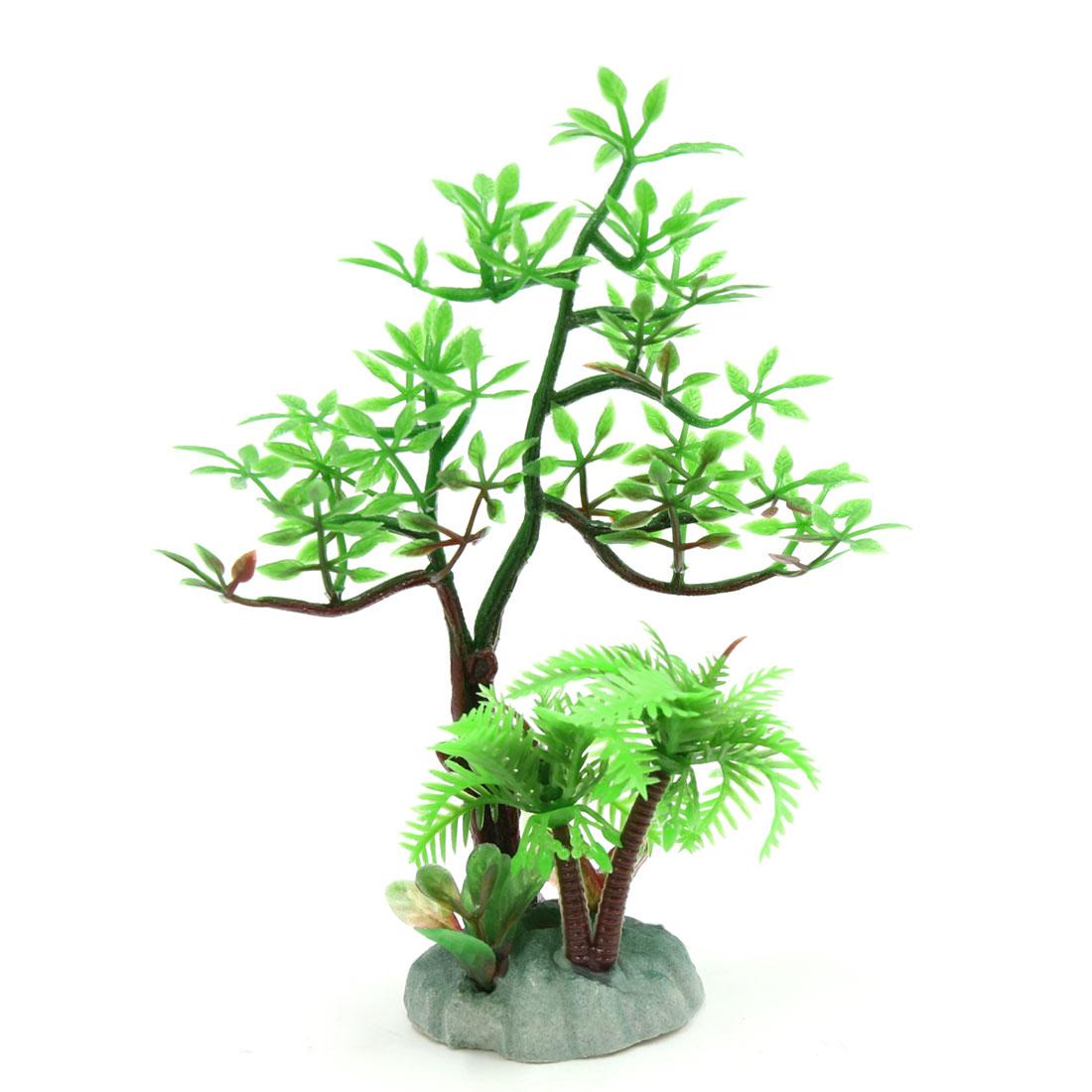 Plastic Plant Aquarium Landscape Decoration Ornament for Small Tanks