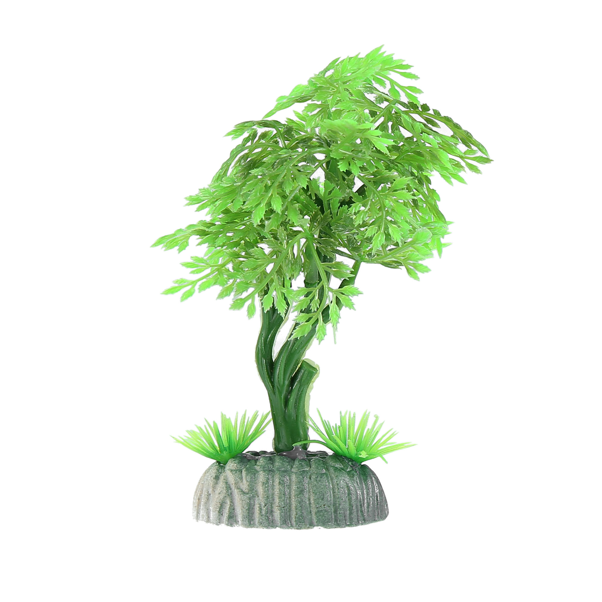 Green Plastic Plant Fishbowl Aquarium Ornament Home Decoration for Small Tanks