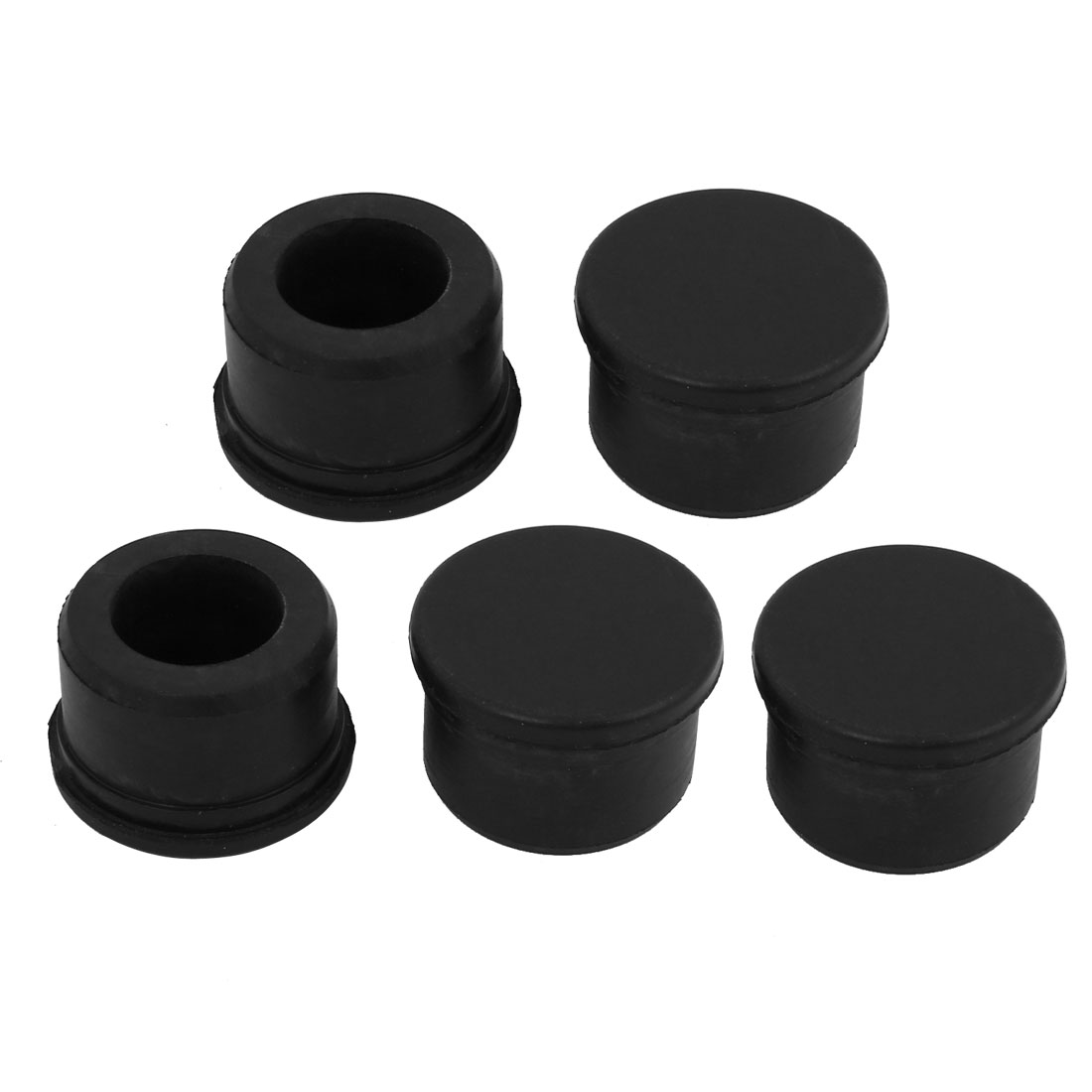 5pcs S-280 28mm Dia EPDM Rubber Seal Hole Insert Stopper Black for Cable Gland