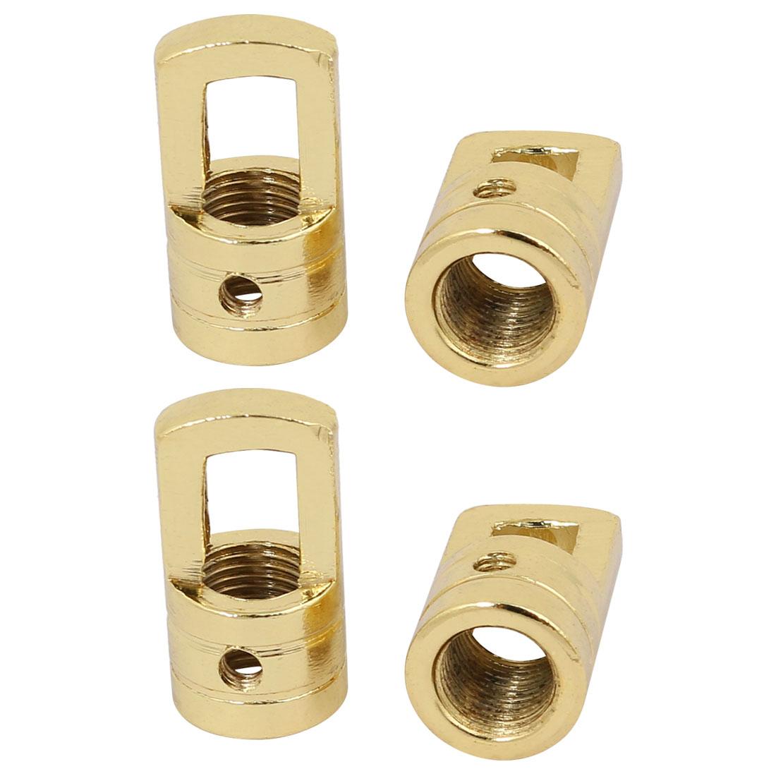 4pcs 15mm x 27mm M10 Female Thread Lamp Loop Ring Golden for DIY Chandelier