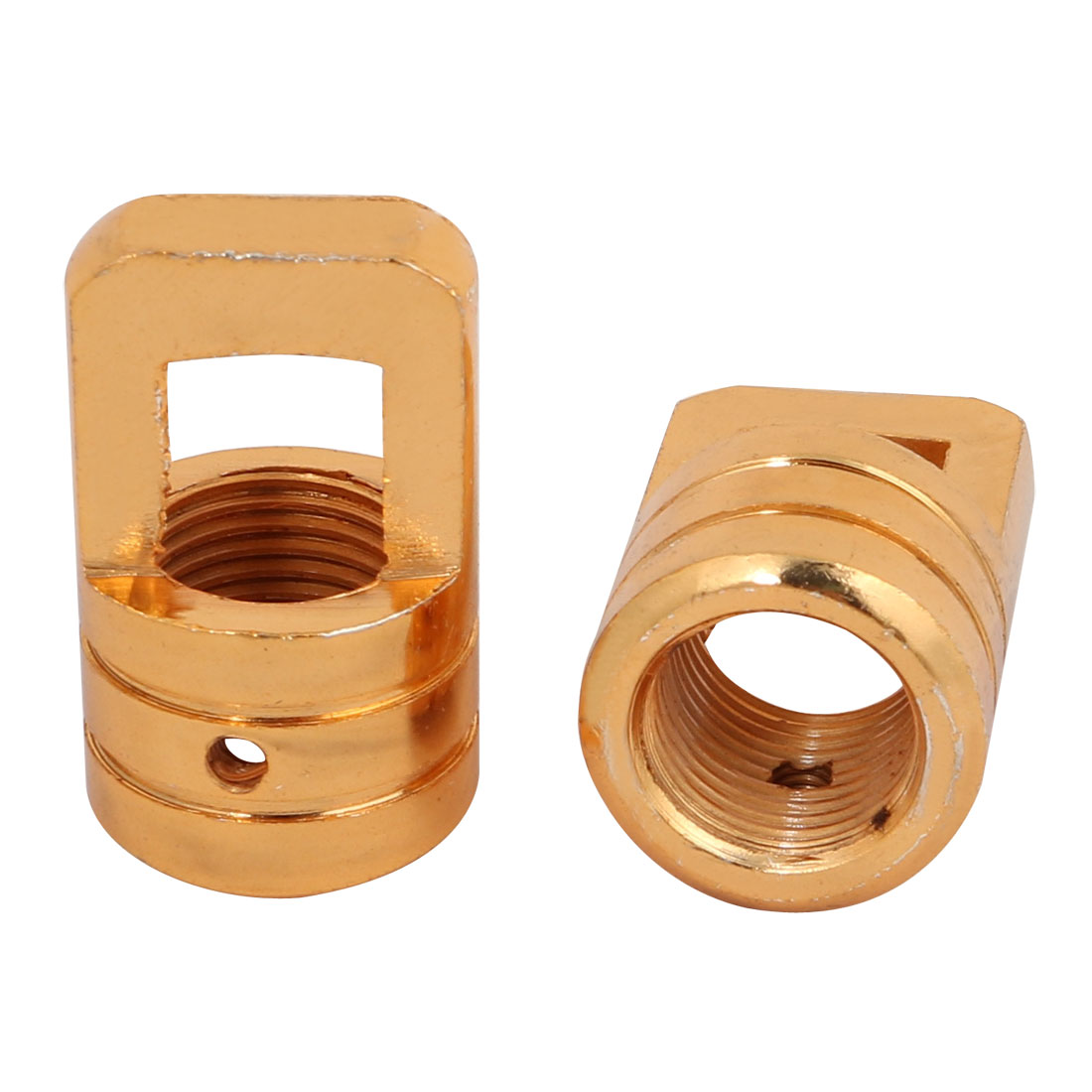 2pcs 23mm x 37mm M16 Female Thread Lamp Loop Ring Gold Tone for DIY Chandelier