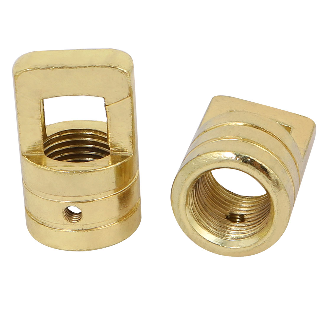 2pcs 23mm x 37mm M16 Female Thread Lamp Loop Ring Golden for DIY Chandelier