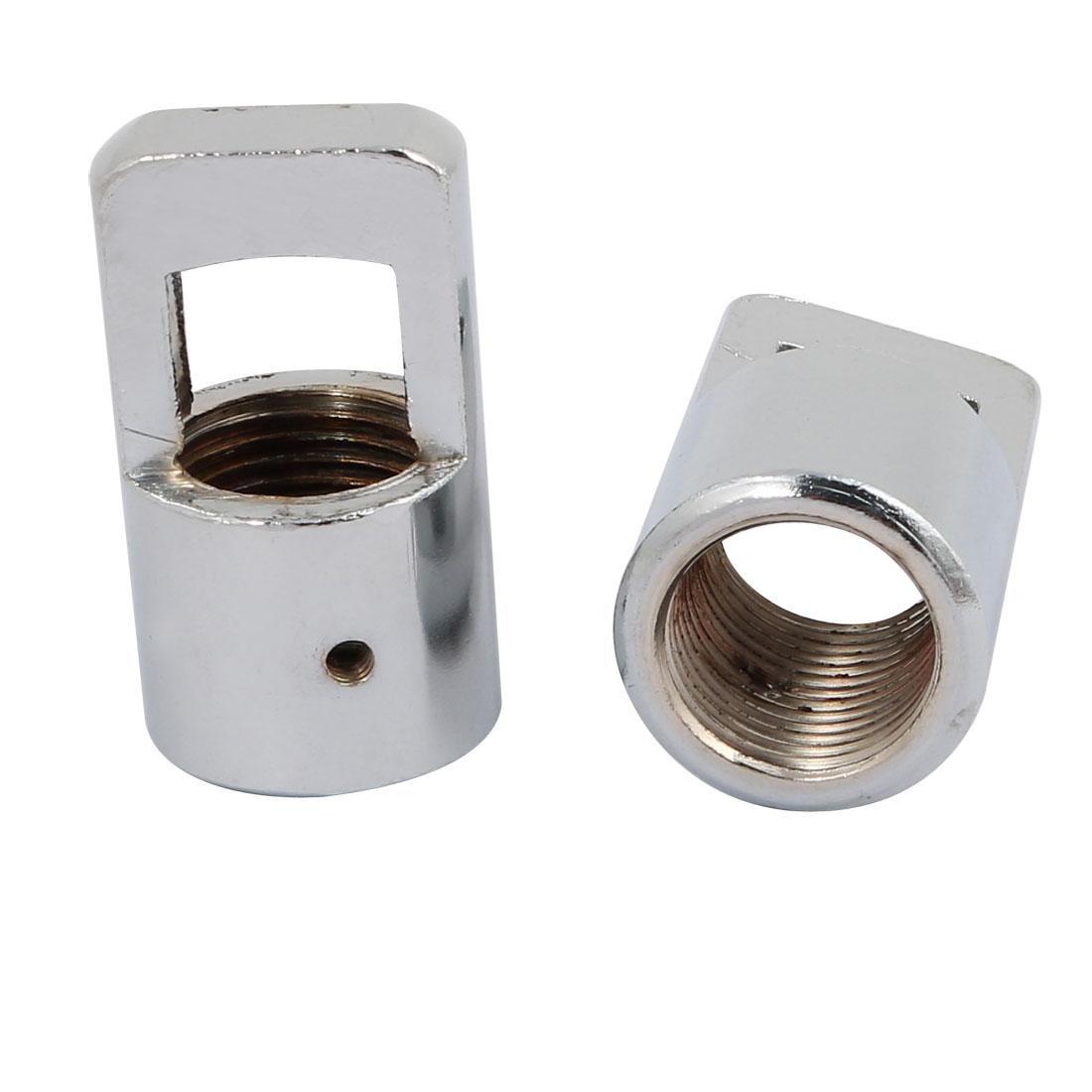 2pcs 27mm x 47mm M19 Female Thread Lamp Loop Ring Chrome Tone for DIY Chandelier