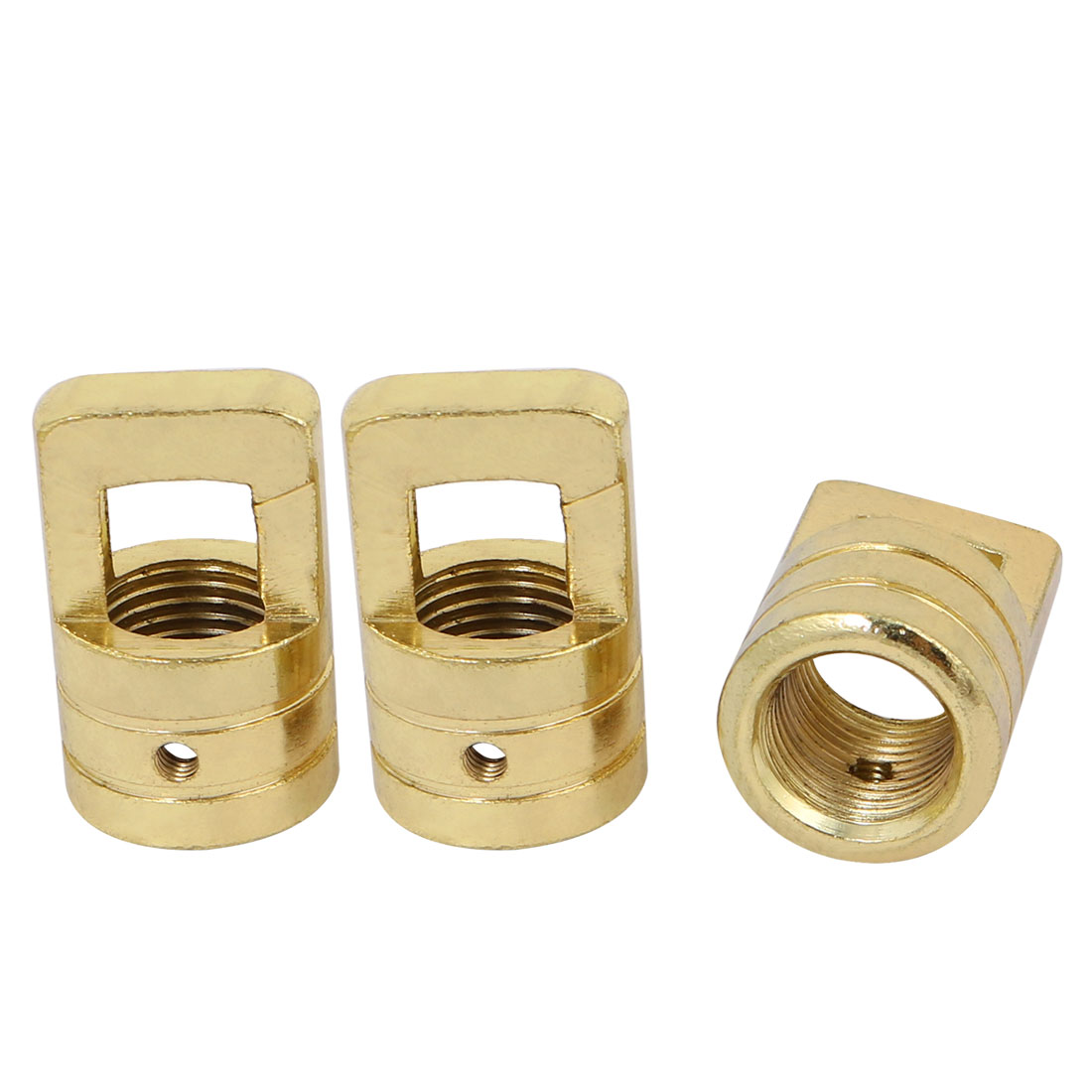 3pcs 23mm x 37mm M16 Female Thread Lamp Loop Ring Golden for DIY Chandelier