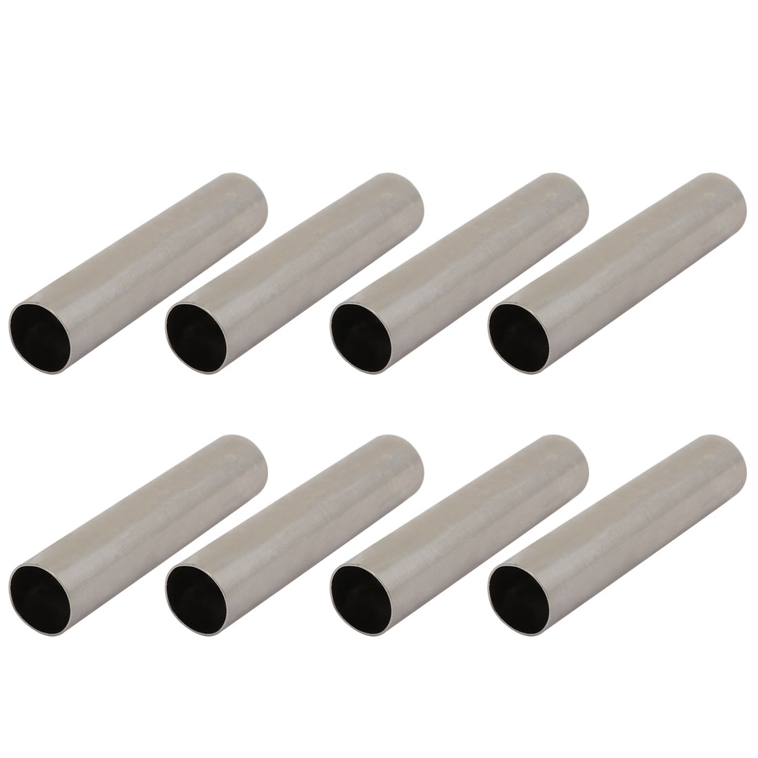 8pcs Chandelier Candle Light Cover Sleeve Silver Tone 12.7mm Outer Dia 60mm Long