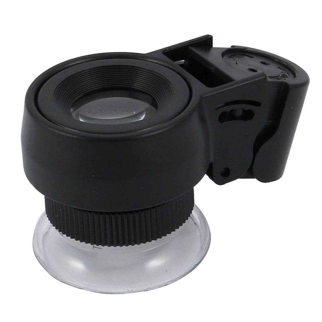 Pocket 21mm Dia 45 X Lens LED Light Jeweler Eye Loupe Magnifying Glass Black