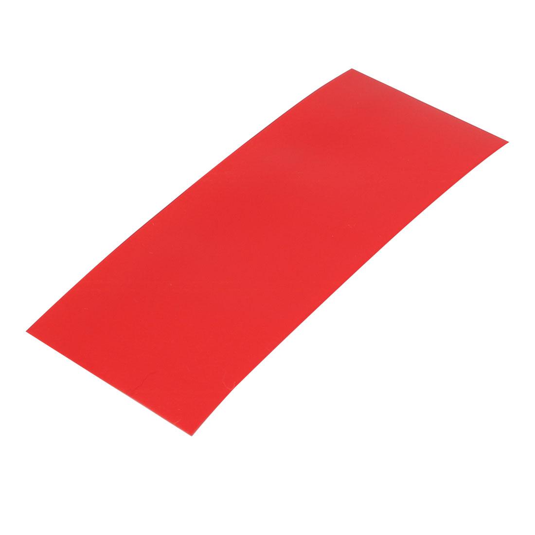 29.5mm Width 72mm Long PVC Heat Shrinkable Tube Red for 18650 Battery