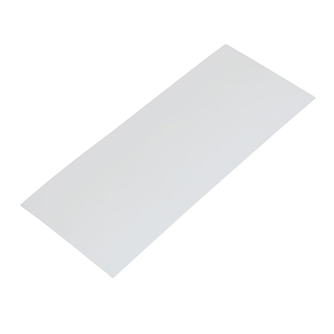 29.5mm Flat Width 72mm Length PVC Heat Shrinkable Tube White for Battery Pack