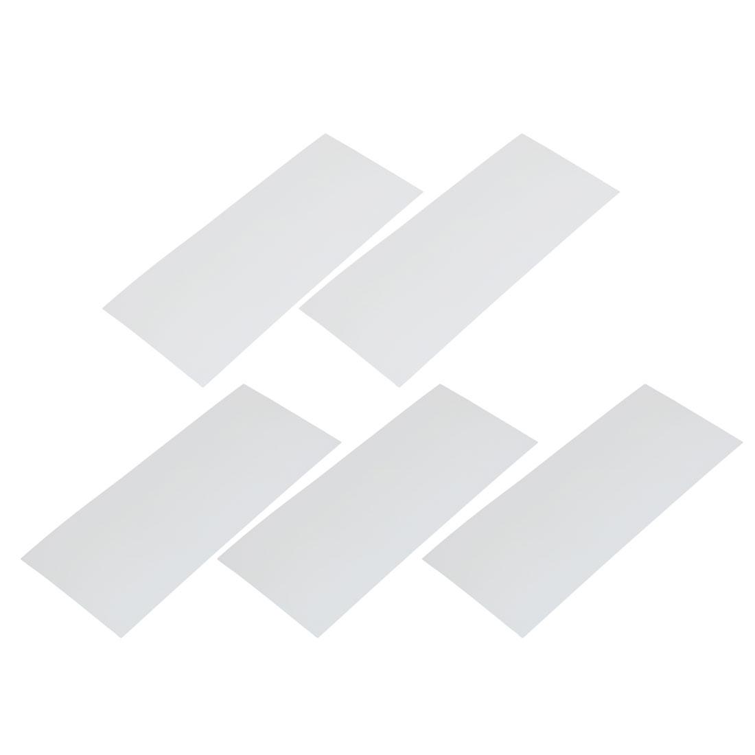 5pcs 29.5mm Flat Width 72mm Long PVC Heat Shrinkable Tube White for Battery Pack