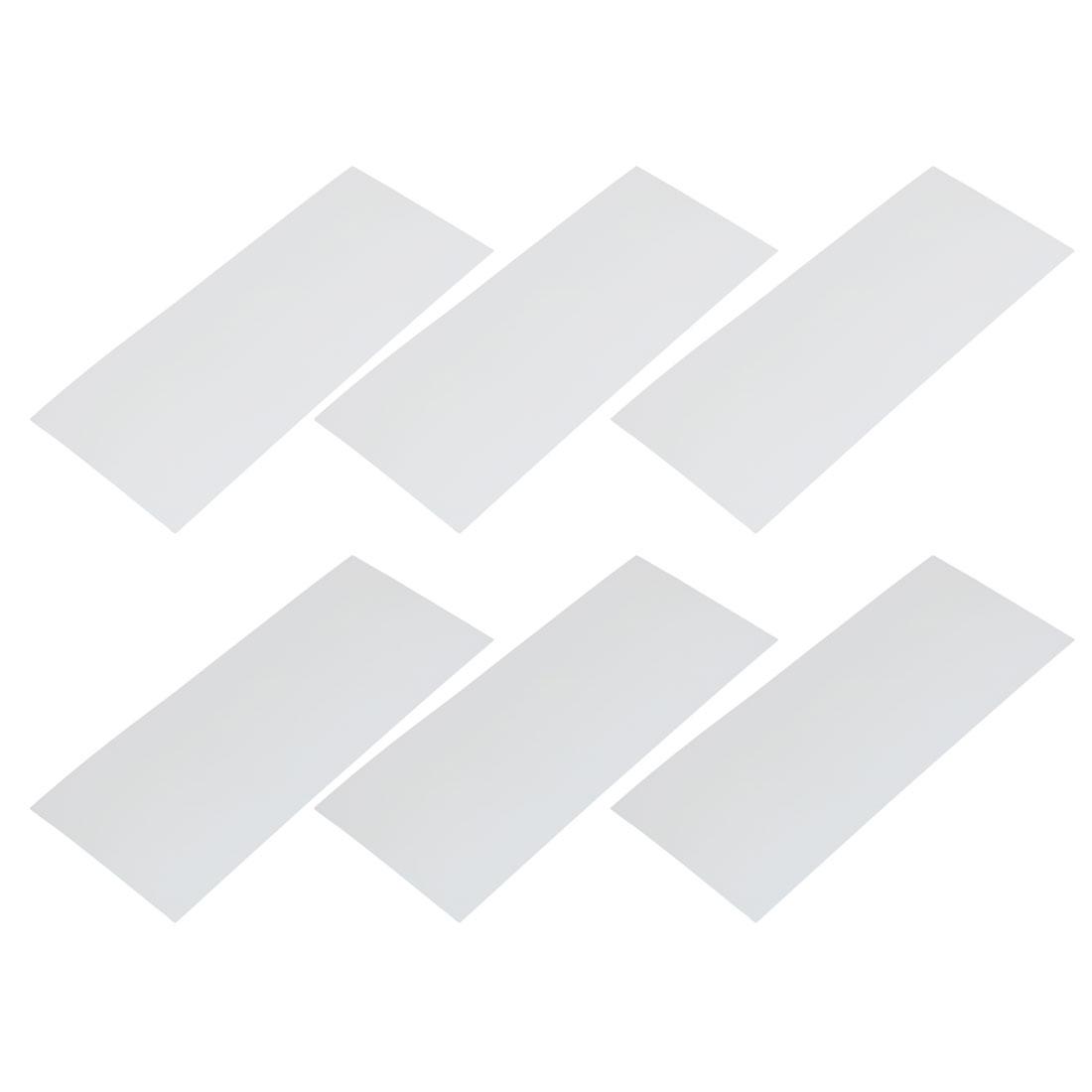 6pcs 29.5mm Flat Width 72mm Long PVC Heat Shrinkable Tube White for Battery Pack