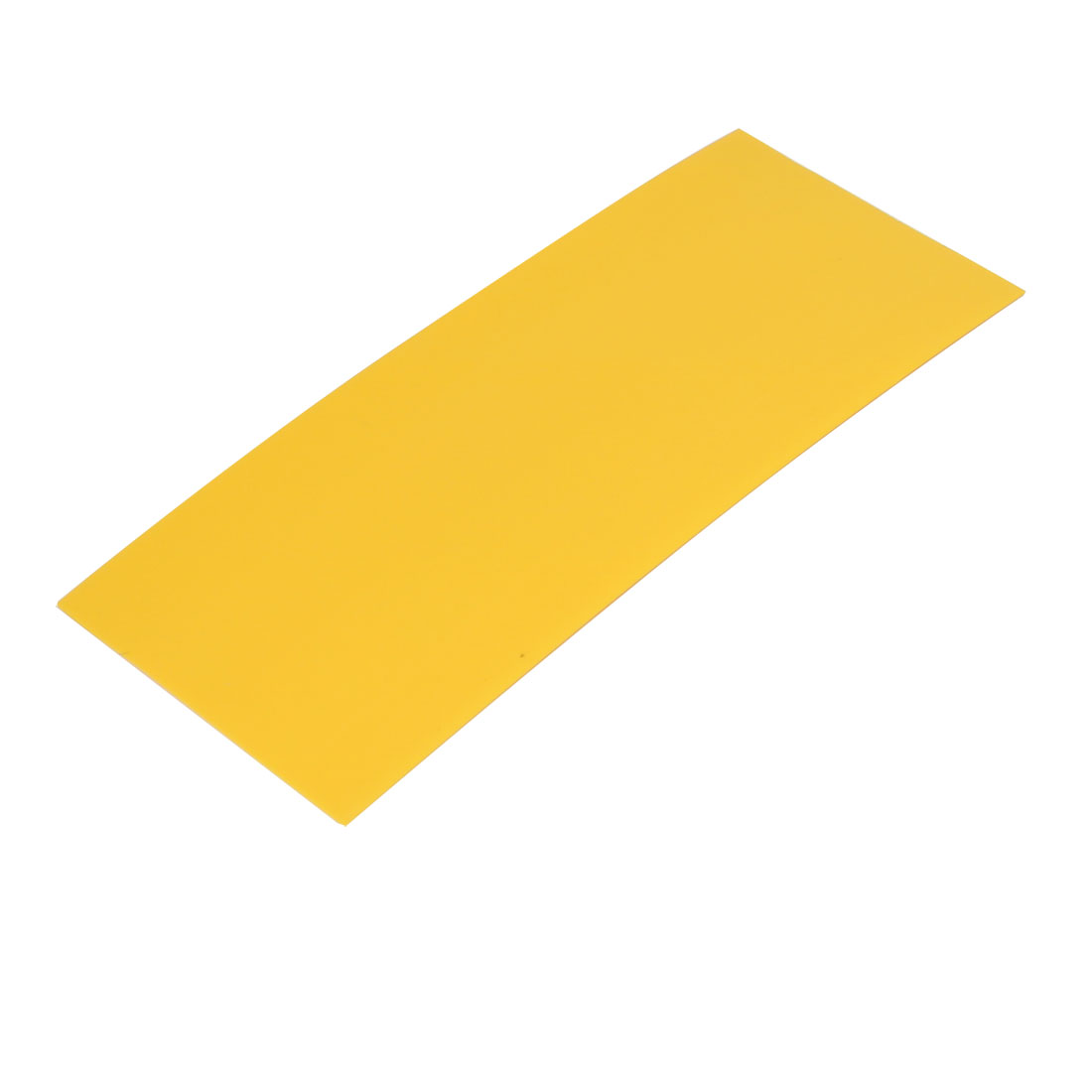 29.5mm Flat Width 72mm Long PVC Heat Shrinkable Tube Yellow for 18650 Battery