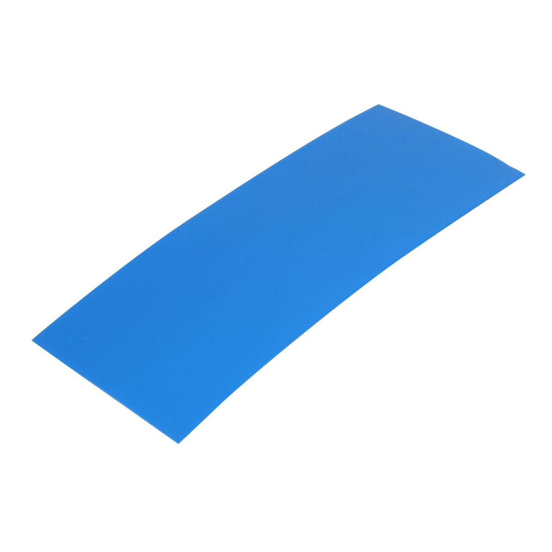 29.5mm Flat Width 72mm Long PVC Heat Shrinkable Tube Blue for 18650 Battery