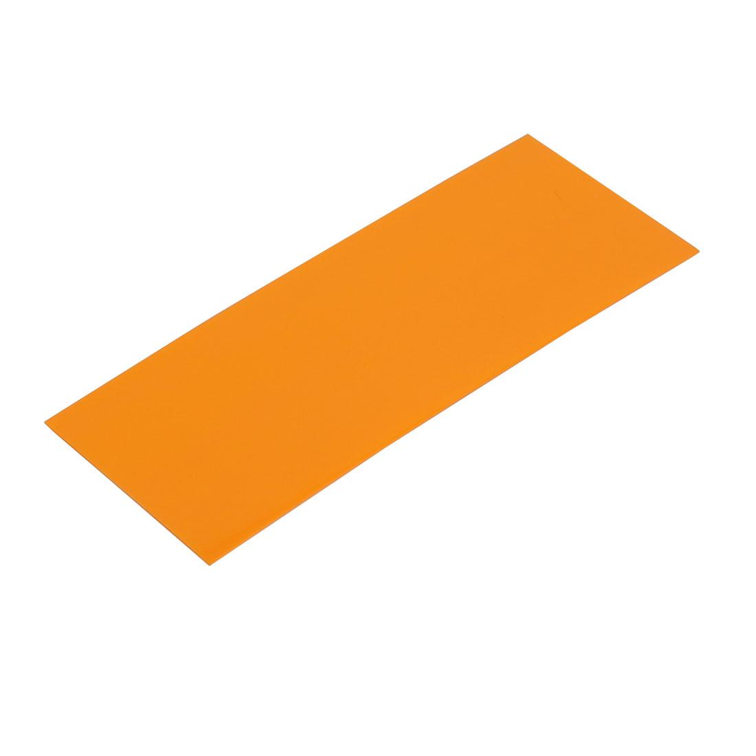 29.5mm Flat Width 72mm Long PVC Heat Shrinkable Tube Orange for 18650 Battery