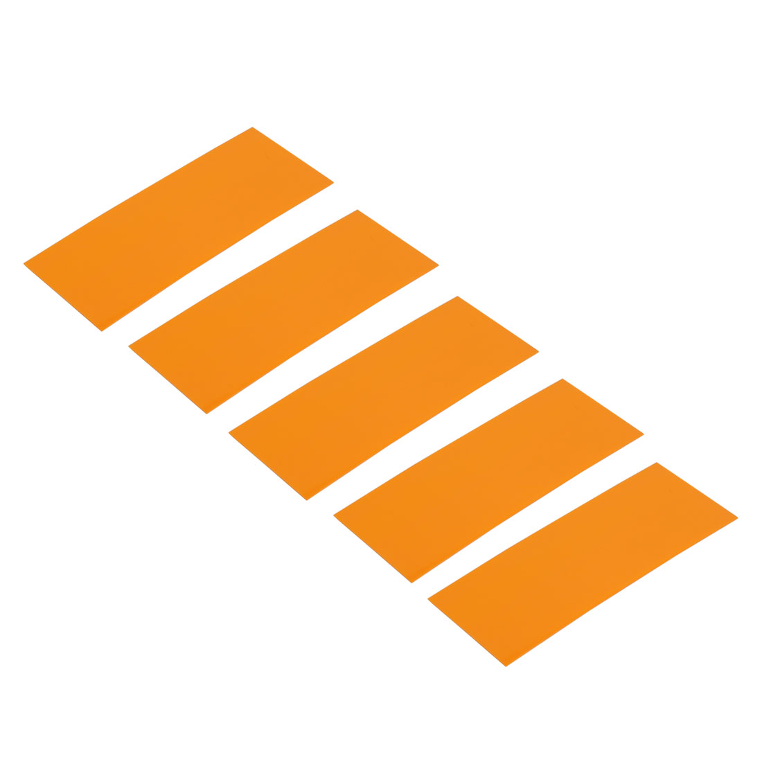 5pcs 29.5mm Width 72mm Long PVC Heat Shrinkable Tube Orange for 18650 Battery