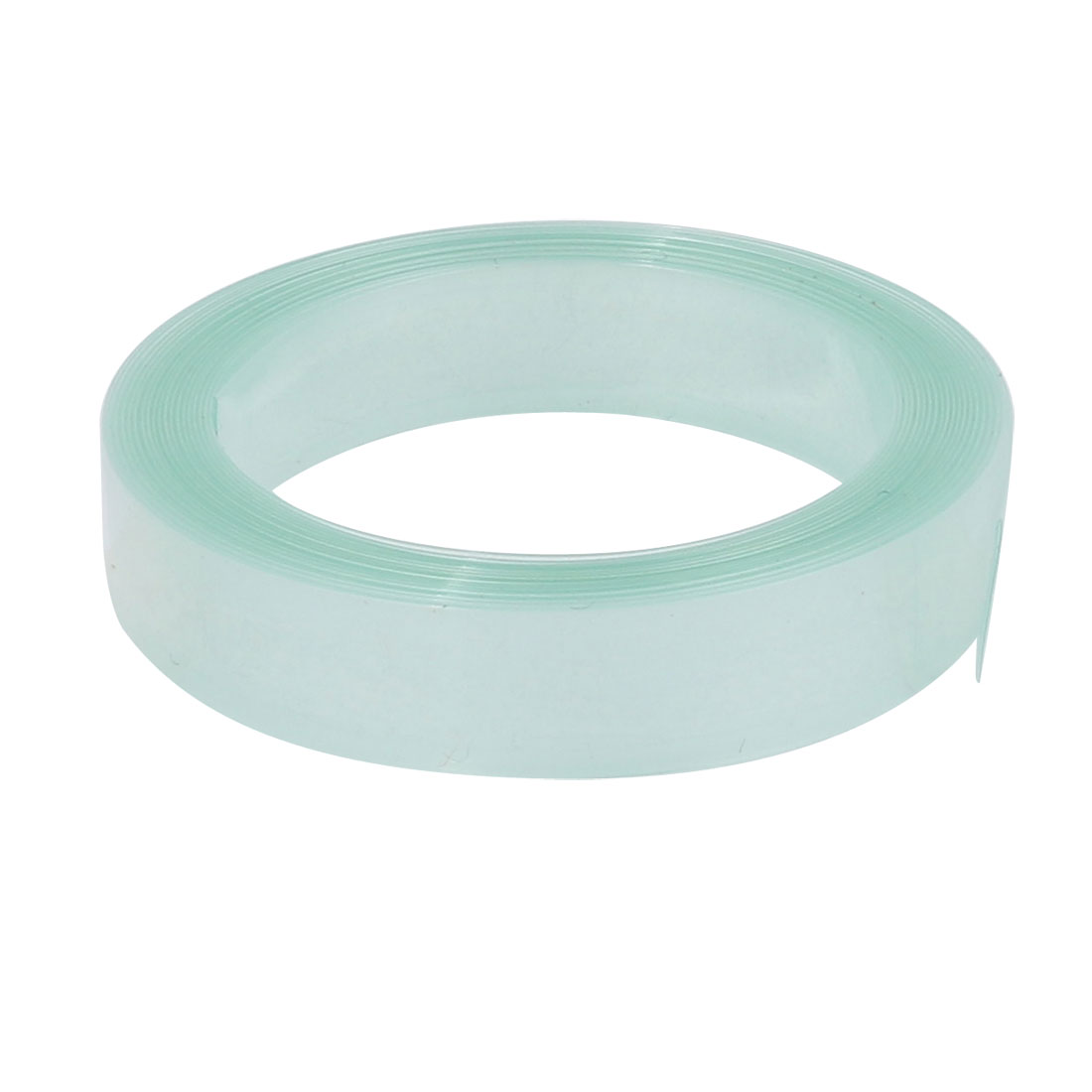 7mm Flat Width 2 Meters Long PVC Heat Shrinkable Tube Clear-green for Battery