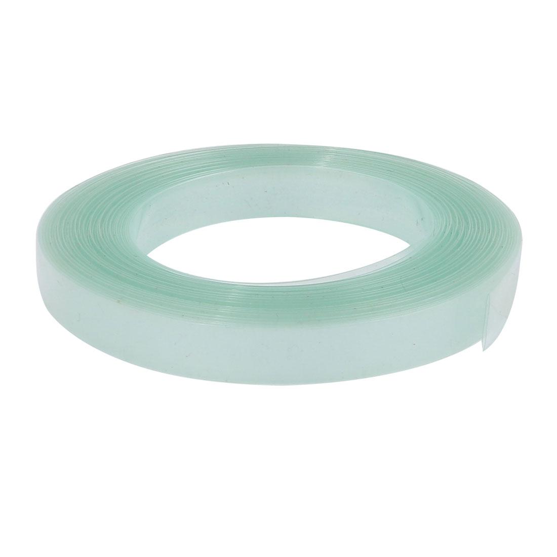7mm Flat Width 6 Meters Long PVC Heat Shrinkable Tube Clear-green for Battery