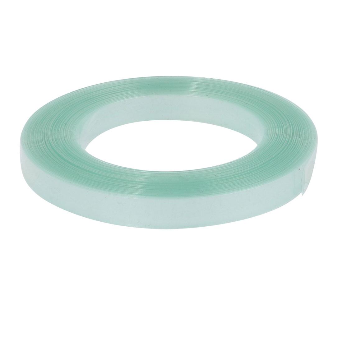 7mm Flat Width 10 Meters Long PVC Heat Shrinkable Tube Clear-green for Battery