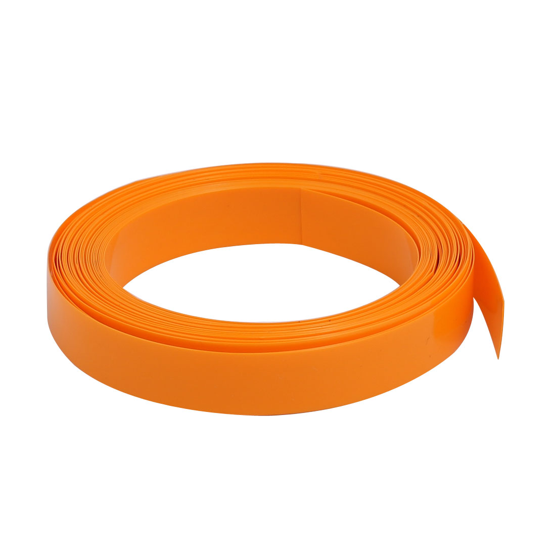 9mm Flat Width 5 Meter Long PVC Heat Shrinkable Tube Orange for Battery Pack