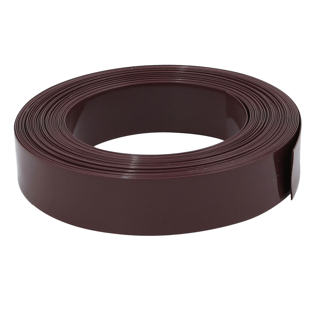 12mm Flat Width 5 Meters Long PVC Heat Shrinkable Tube Brown for Battery Pack