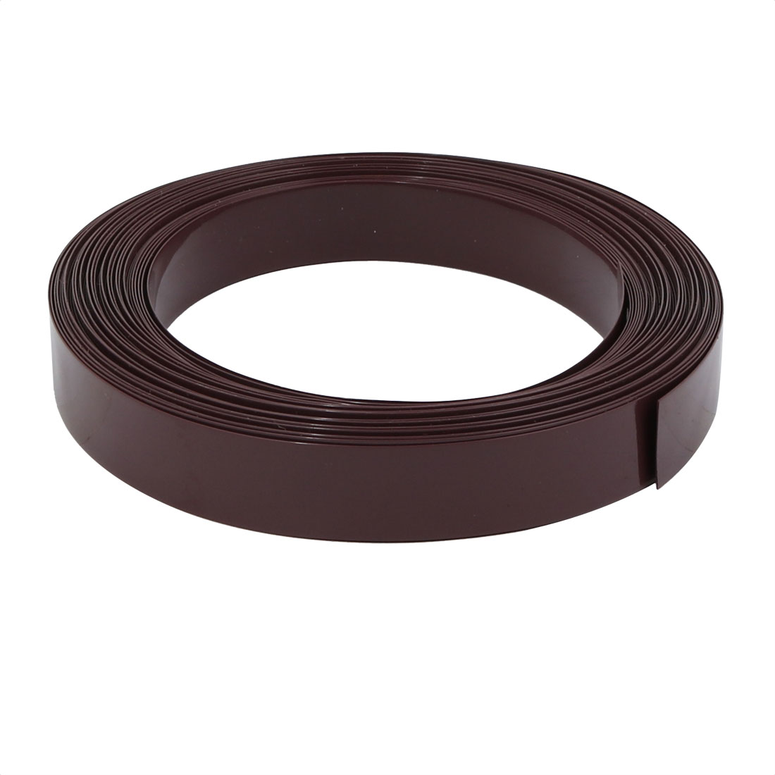 12mm Flat Width 10 Meter Long PVC Heat Shrinkable Tube Brown for Battery Pack