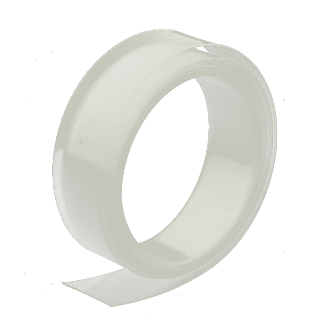 17mm Flat Width 2M Length PVC Heat Shrinkable Tube Clear for AAA Battery
