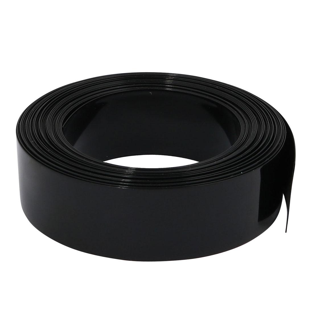 18.5mm Flat Width 6M Long PVC Heat Shrinkable Tube Black for Capacitive Battery