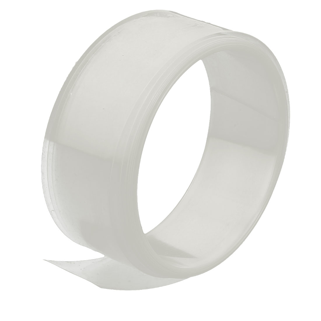 23mm Flat Width 2M Length PVC Heat Shrinkable Tube Clear for AA Battery