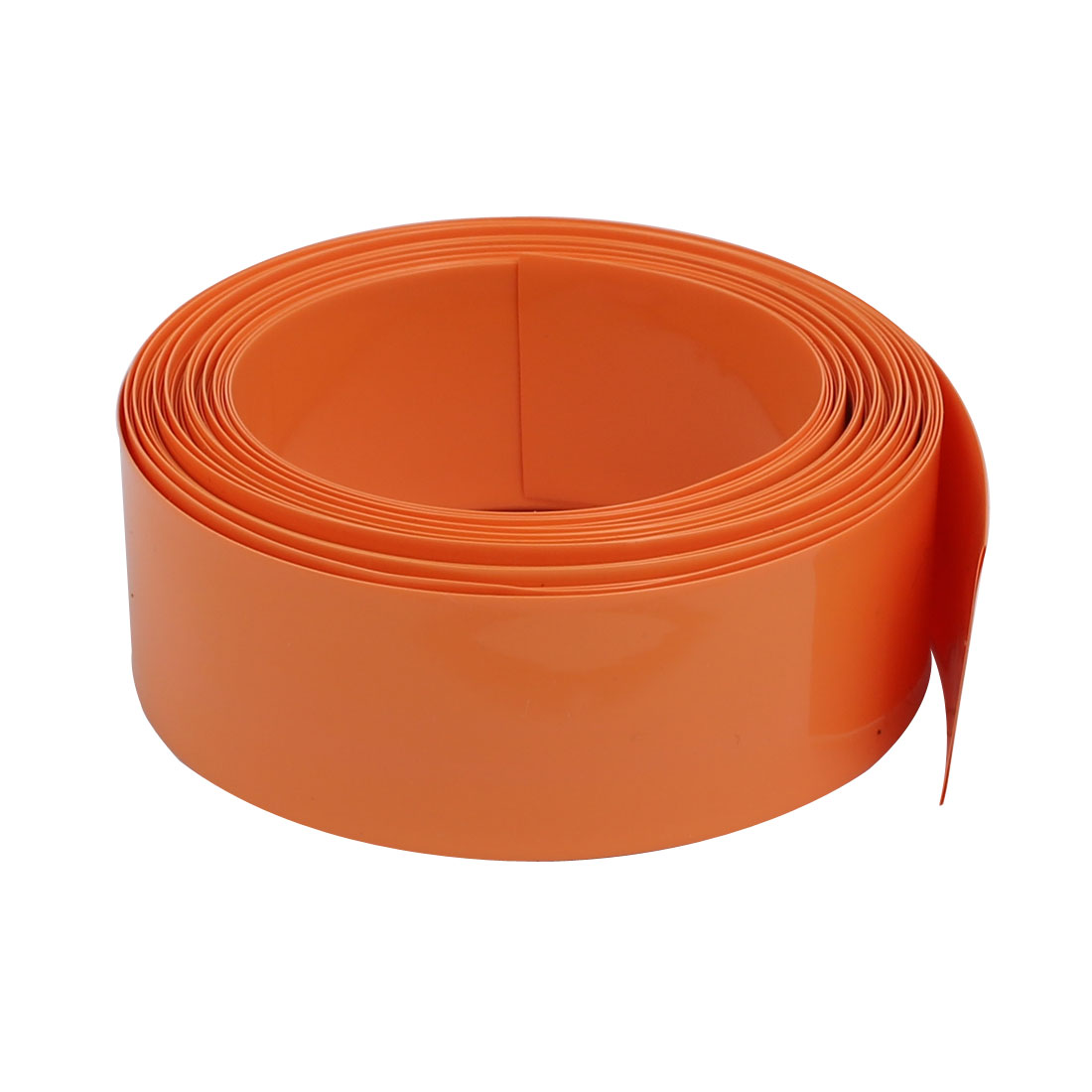 23mm Flat Width 5 Meter Long PVC Heat Shrinkable Tube Orange for AA Battery Pack