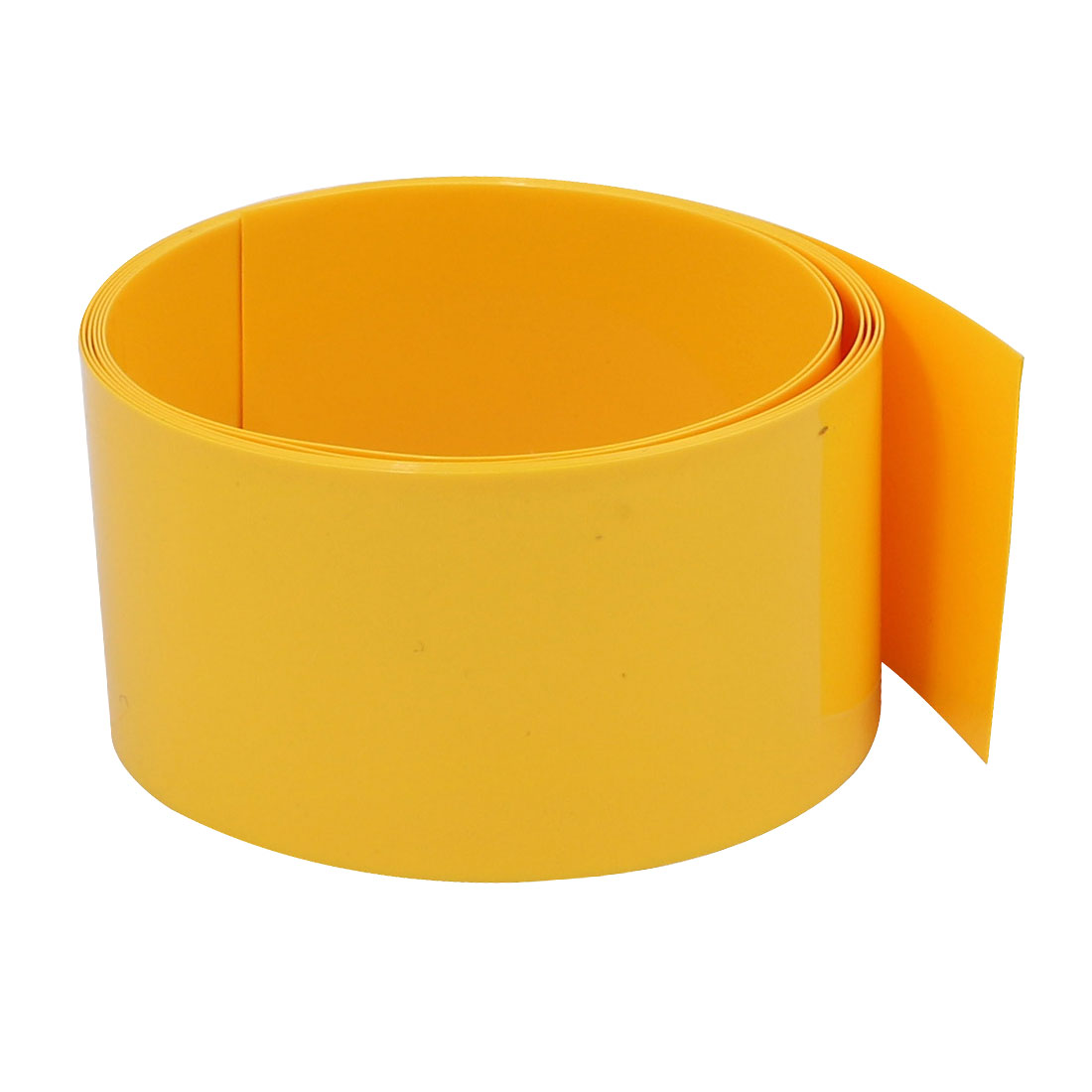 29.5mm Flat Width 1M Long PVC Heat Shrinkable Tube Yellow for 18650 Battery Pack