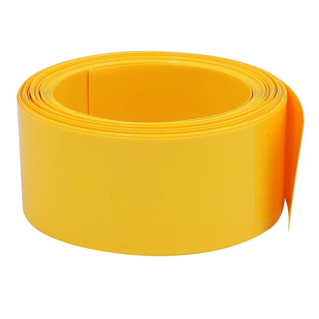 29.5mm Flat Width 6M Long PVC Heat Shrinkable Tube Yellow for 18650 Battery Pack