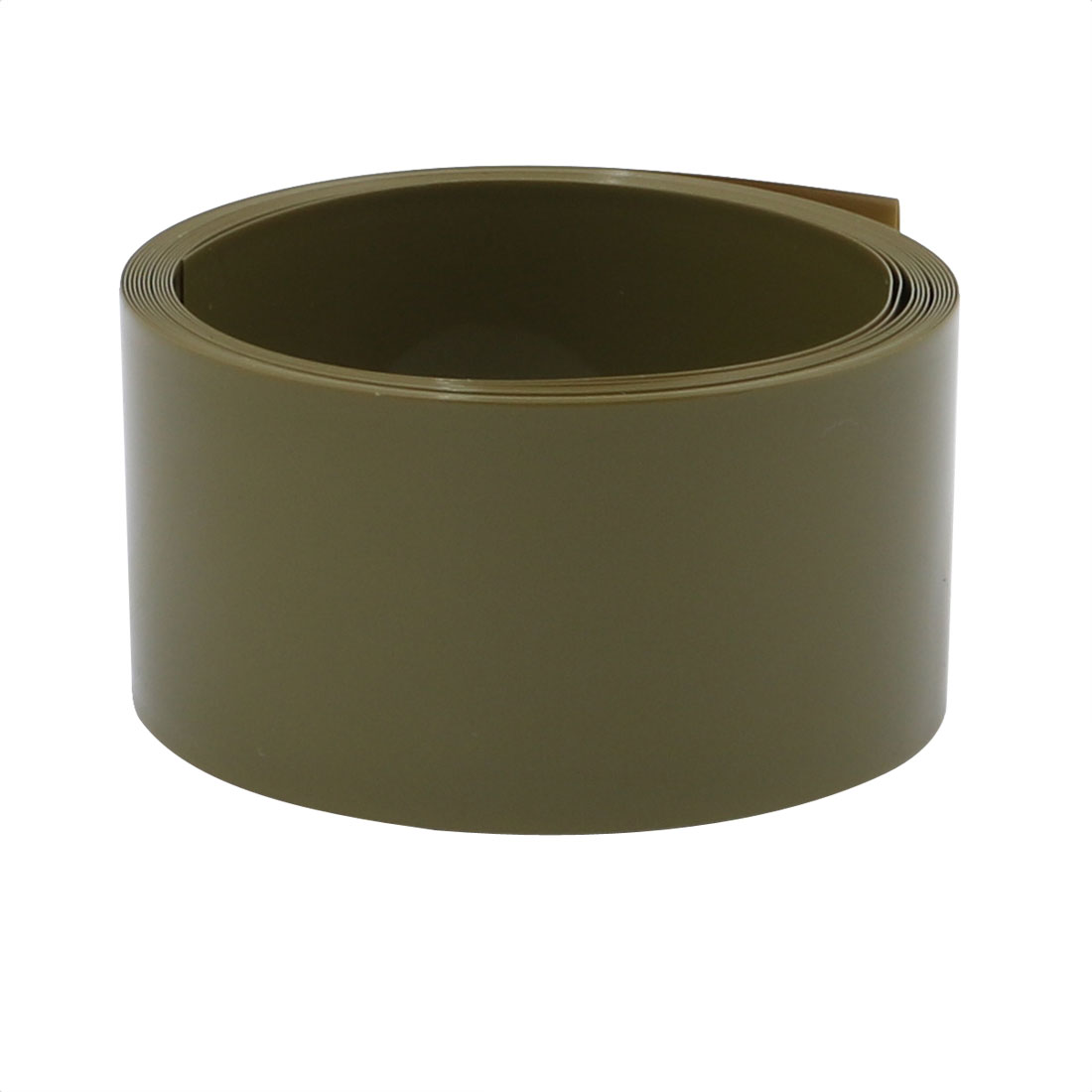 29.5mm Flat Width 2M Long PVC Heat Shrinkable Tube Army Green for 18650 Battery