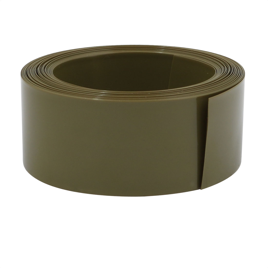 29.5mm Flat Width 6M Long PVC Heat Shrinkable Tube Army Green for 18650 Battery