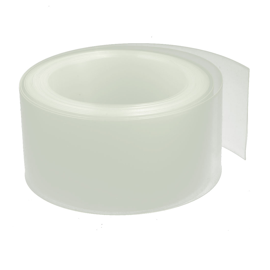 40mm Flat Width 5M Length PVC Heat Shrinkable Tube Clear for 2xAA 9V Battery