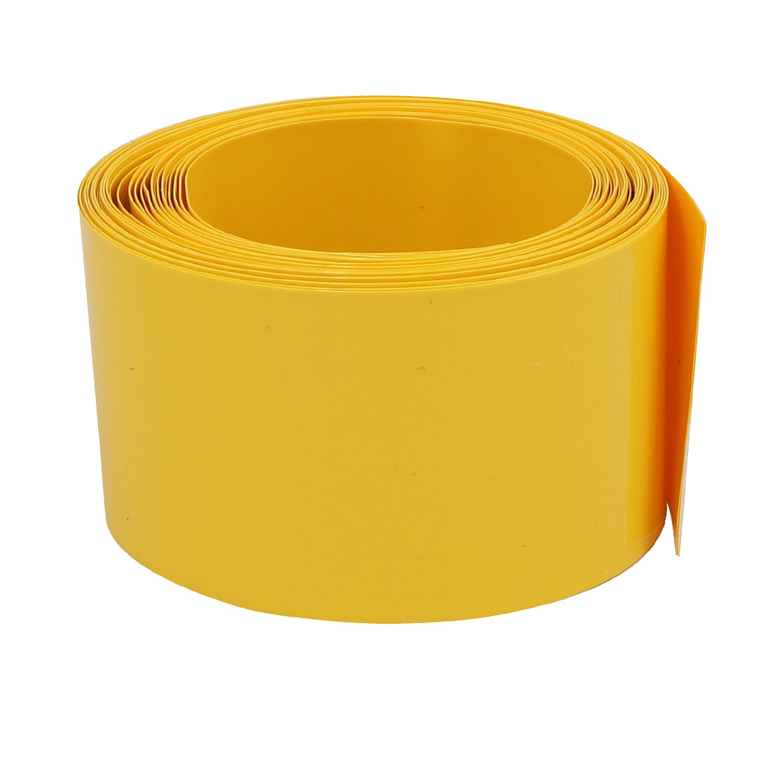 43mm Flat Width 5M Long PVC Heat Shrinkable Tube Yellow for 26650 Battery Pack