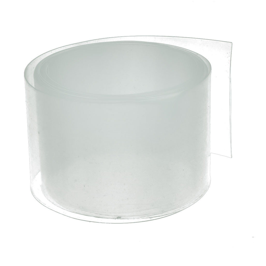 45mm Flat Width 1M Length PVC Heat Shrinkable Tube Clear for Capacitive Battery`