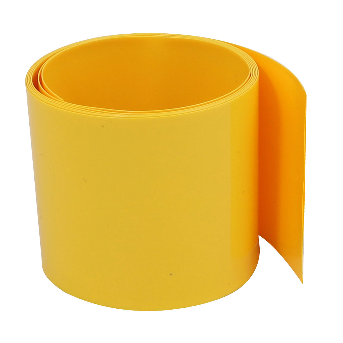 45mm Flat Width 1M Long PVC Heat Shrinkable Tube Yellow for Capacitive Battery