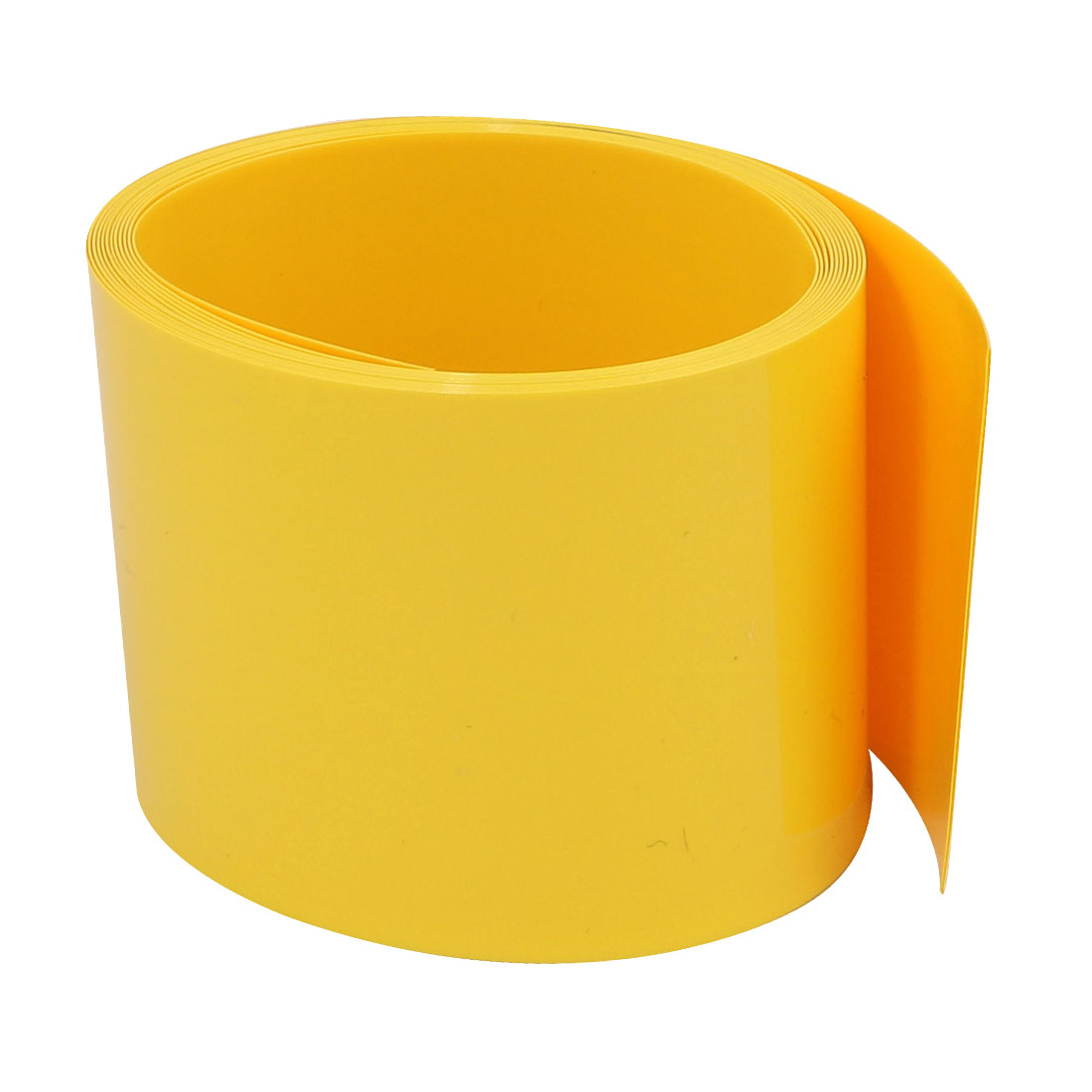45mm Flat Width 2M Long PVC Heat Shrinkable Tube Yellow for Capacitive Battery