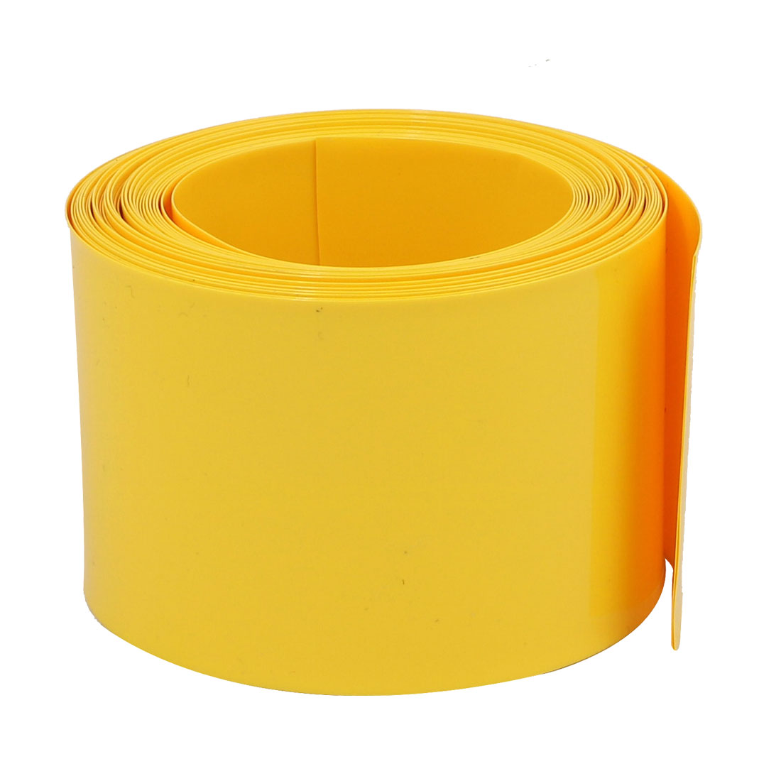 45mm Flat Width 5M Long PVC Heat Shrinkable Tube Yellow for Capacitive Battery
