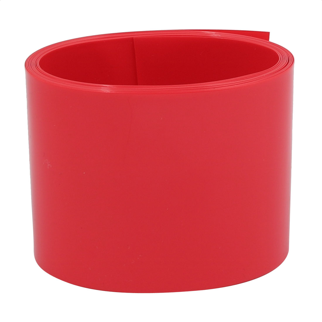 55mm Flat Width 2M Long PVC Heat Shrinkable Tube Red for Capacitive Battery Pack