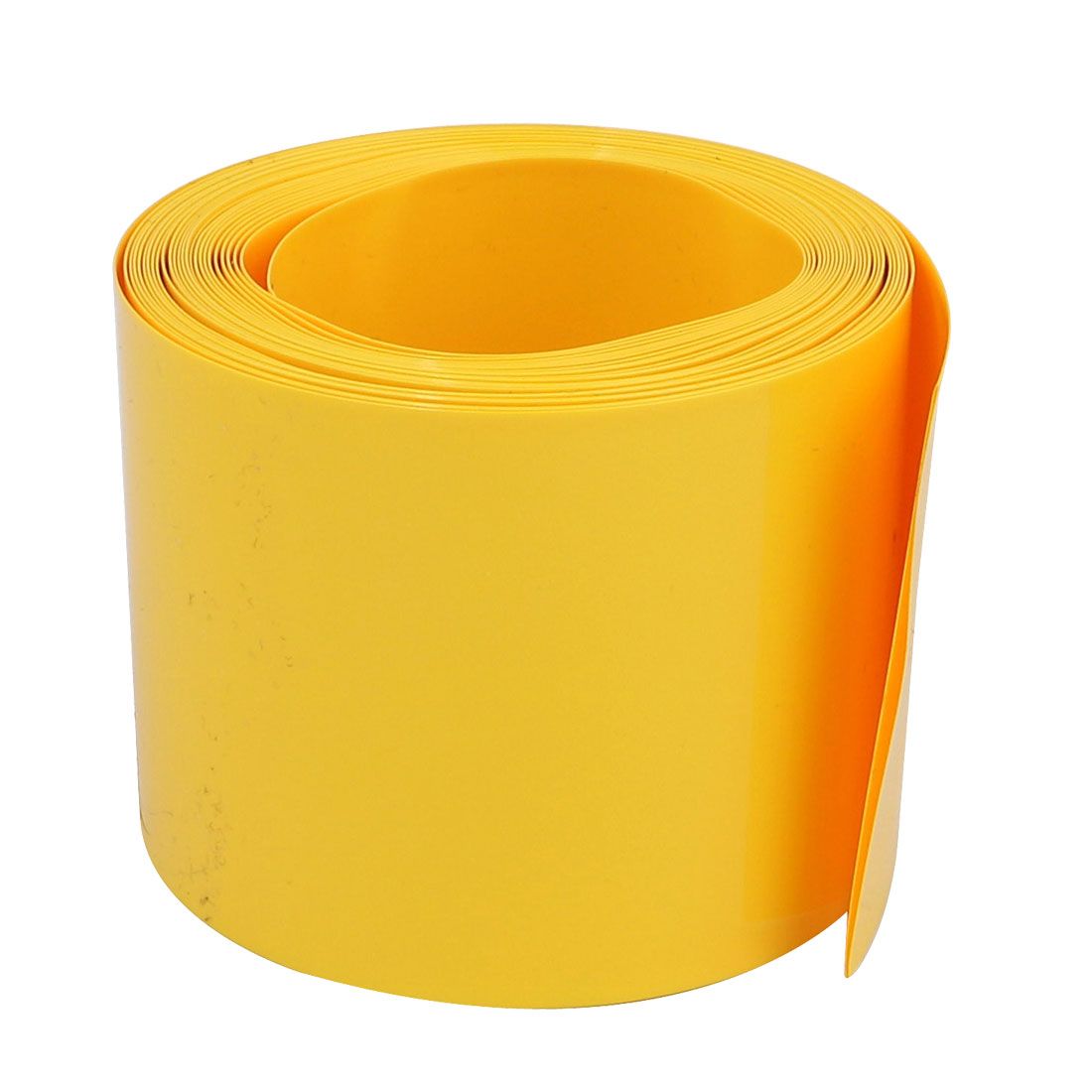 55mm Flat Width 5M Long PVC Heat Shrinkable Tube Yellow for AAA Battery Pack