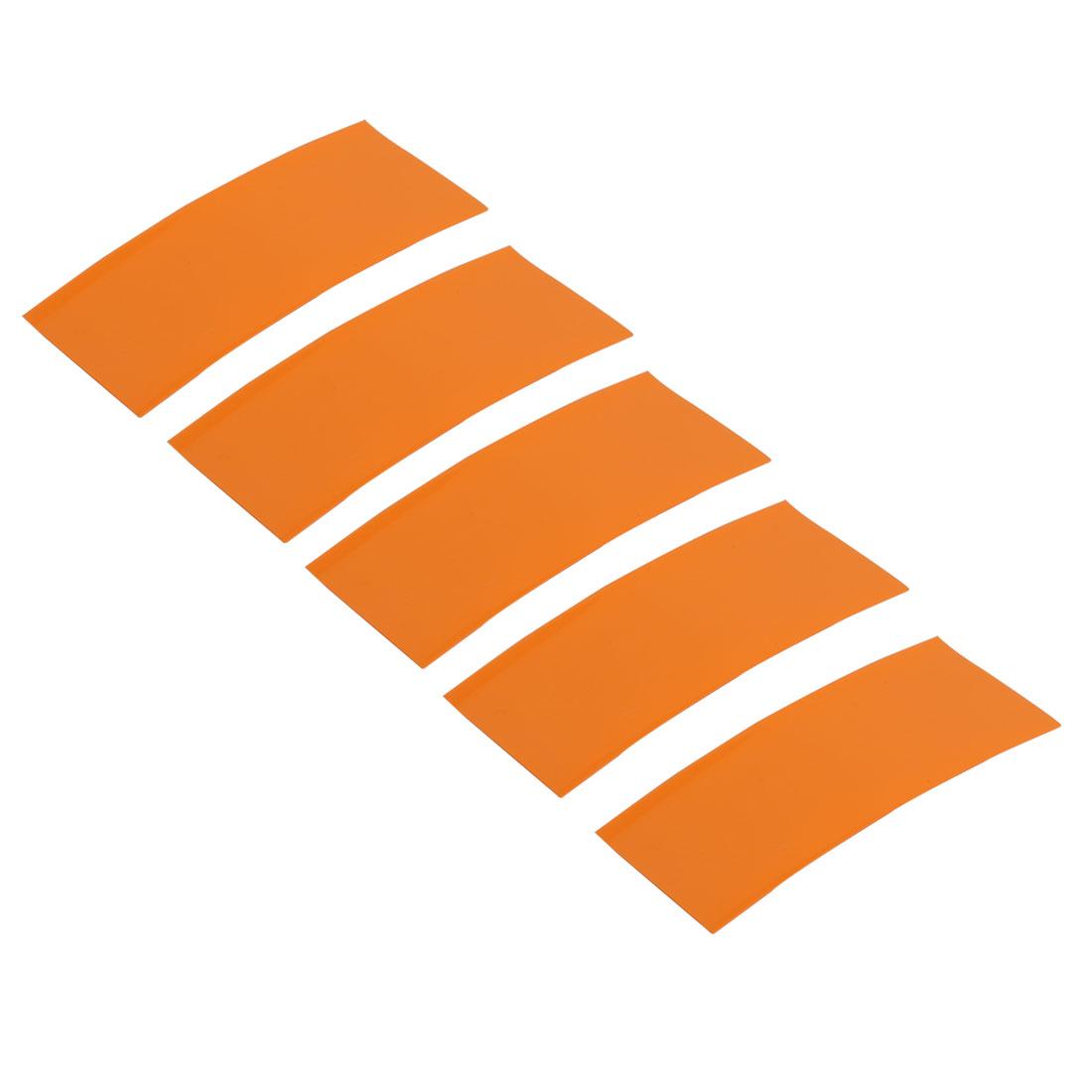 5pcs 23mm Width 53mm Long PVC Heat Shrinkable Tube Orange for AA Battery Pack